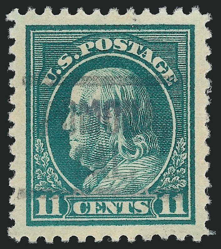 Costs of US Stamp Scott Cat. 511: 11c 1917 Franklin Perf 11. Robert Siegel Auction Galleries, Mar 2014, Sale 1067, Lot 1582