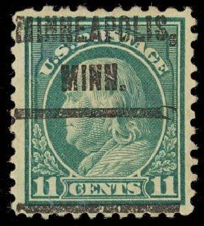 US Stamp Price Scott Catalogue #511: 1917 11c Franklin Perf 11. Daniel Kelleher Auctions, Aug 2012, Sale 631, Lot 1403