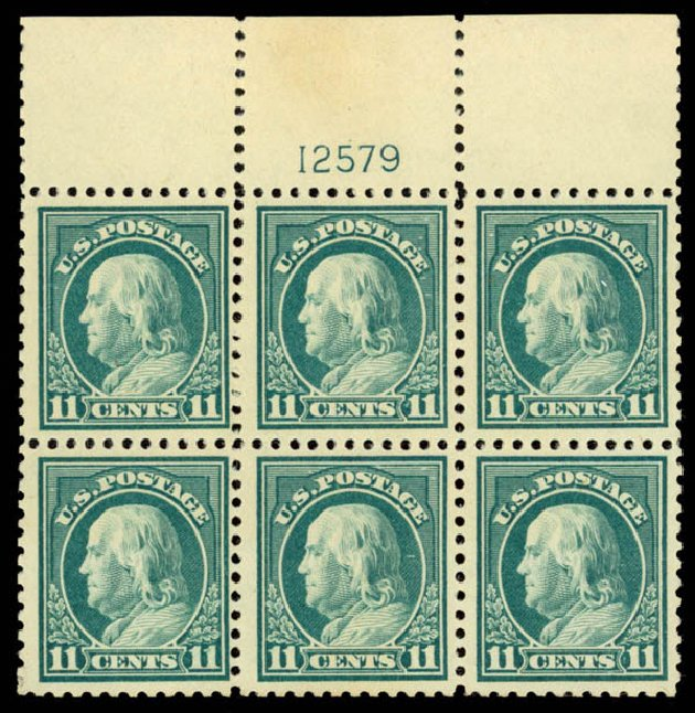 Prices of US Stamp Scott Catalogue 511 - 1917 11c Franklin Perf 11. Daniel Kelleher Auctions, Sep 2014, Sale 655, Lot 713