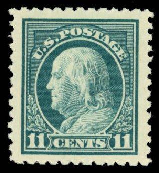 Costs of US Stamp Scott Catalogue 511 - 11c 1917 Franklin Perf 11. Daniel Kelleher Auctions, Oct 2014, Sale 660, Lot 2403