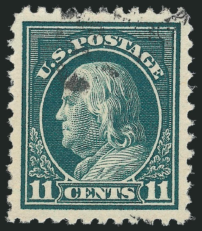 Values of US Stamp Scott # 511: 1917 11c Franklin Perf 11. Robert Siegel Auction Galleries, Sep 2012, Sale 1028, Lot 433