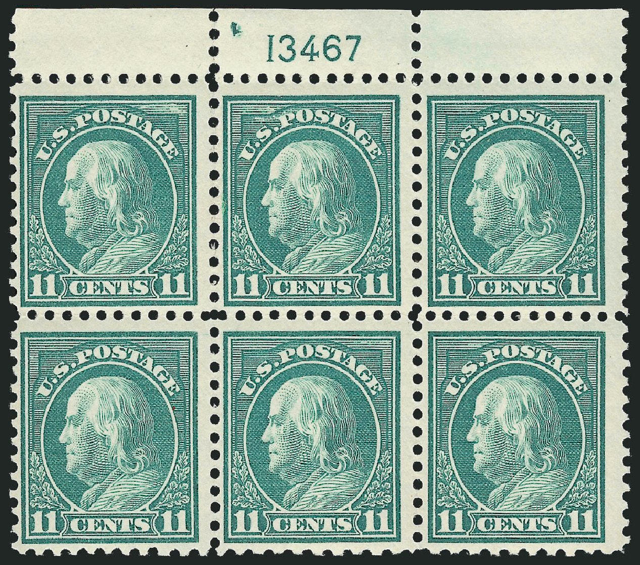 Price of US Stamp Scott Catalogue #511 - 1917 11c Franklin Perf 11. Robert Siegel Auction Galleries, Feb 2015, Sale 1093, Lot 476