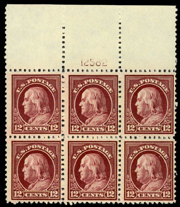 Value of US Stamps Scott Catalogue #512 - 1917 12c Franklin Perf 11. Daniel Kelleher Auctions, Jan 2015, Sale 663, Lot 1858