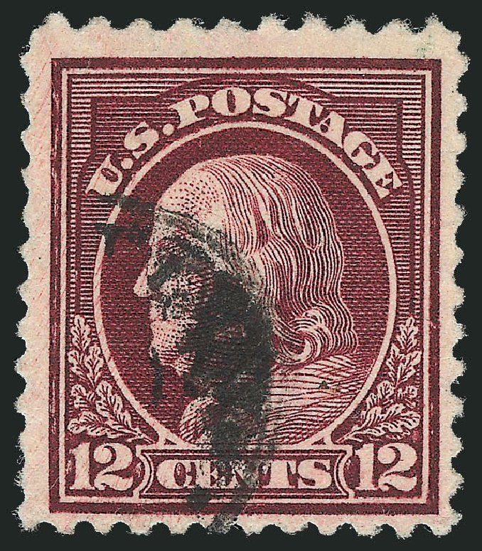 Values of US Stamp Scott Catalog #512: 1917 12c Franklin Perf 11. Robert Siegel Auction Galleries, Feb 2015, Sale 1093, Lot 479