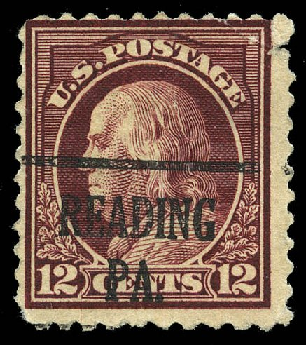 Costs of US Stamp Scott # 512 - 12c 1917 Franklin Perf 11. Matthew Bennett International, Feb 2015, Sale 351, Lot 210