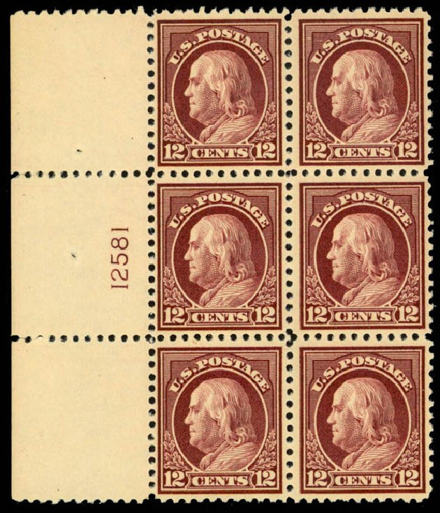 US Stamps Price Scott Cat. # 512: 1917 12c Franklin Perf 11. Daniel Kelleher Auctions, Mar 2013, Sale 635, Lot 591