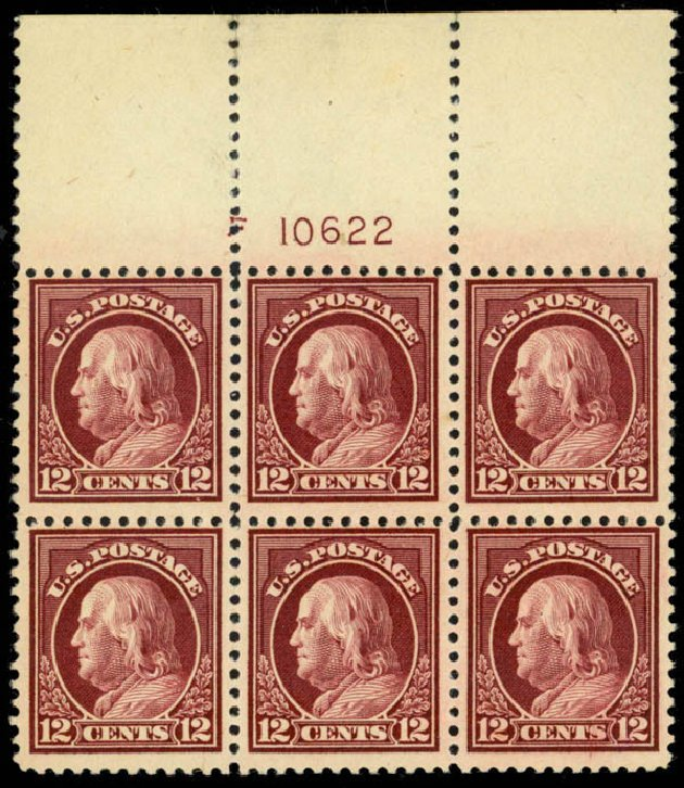 Values of US Stamp Scott Catalog 512: 1917 12c Franklin Perf 11. Daniel Kelleher Auctions, Mar 2013, Sale 635, Lot 594