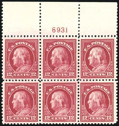 Price of US Stamps Scott # 512 - 1917 12c Franklin Perf 11. Schuyler J. Rumsey Philatelic Auctions, Apr 2015, Sale 60, Lot 2934