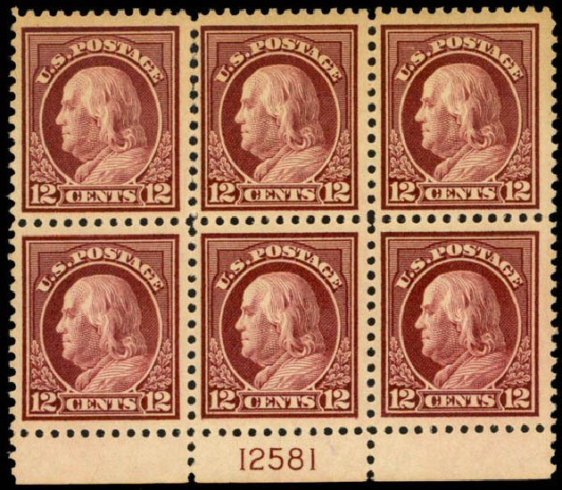 Costs of US Stamps Scott Cat. # 512: 1917 12c Franklin Perf 11. Daniel Kelleher Auctions, Mar 2013, Sale 635, Lot 592