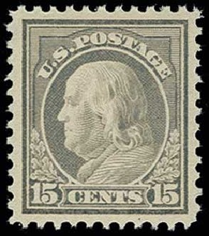 US Stamps Values Scott Catalog # 514: 15c 1917 Franklin Perf 11. H.R. Harmer, Jun 2013, Sale 3003, Lot 1358