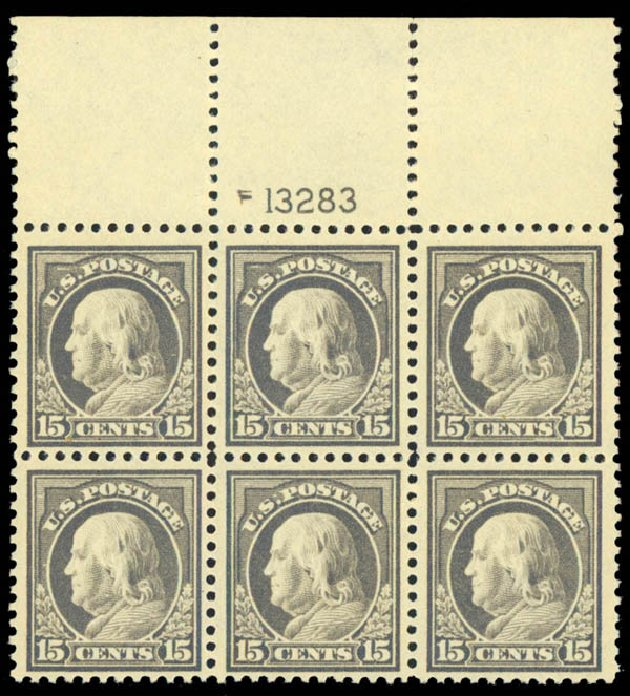 Value of US Stamp Scott Catalog #514: 15c 1917 Franklin Perf 11. Daniel Kelleher Auctions, Sep 2013, Sale 639, Lot 3620