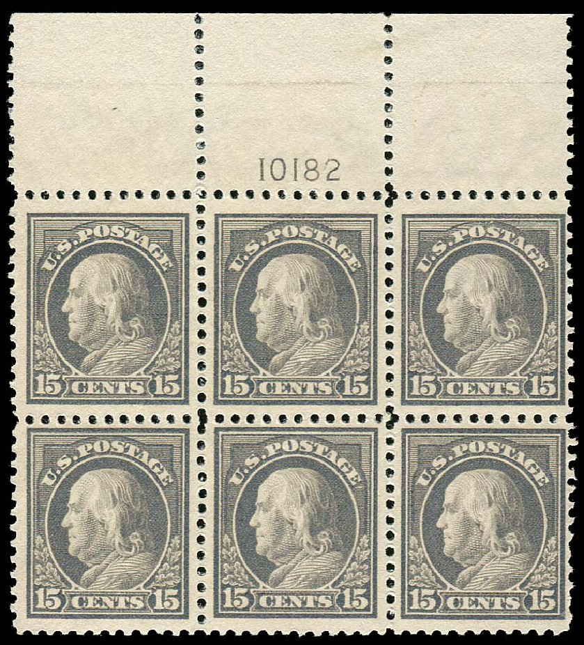 US Stamp Values Scott Cat. # 514: 1917 15c Franklin Perf 11. Regency-Superior, Jan 2015, Sale 109, Lot 1654