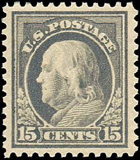 US Stamps Price Scott Cat. 514 - 15c 1917 Franklin Perf 11. Regency-Superior, Nov 2014, Sale 108, Lot 922
