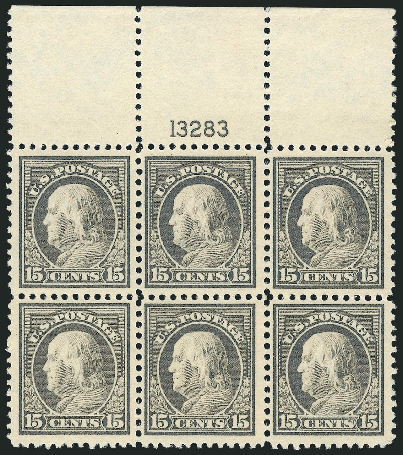 US Stamps Price Scott Catalog #514 - 1917 15c Franklin Perf 11. Robert Siegel Auction Galleries, Jul 2014, Sale 1077, Lot 302