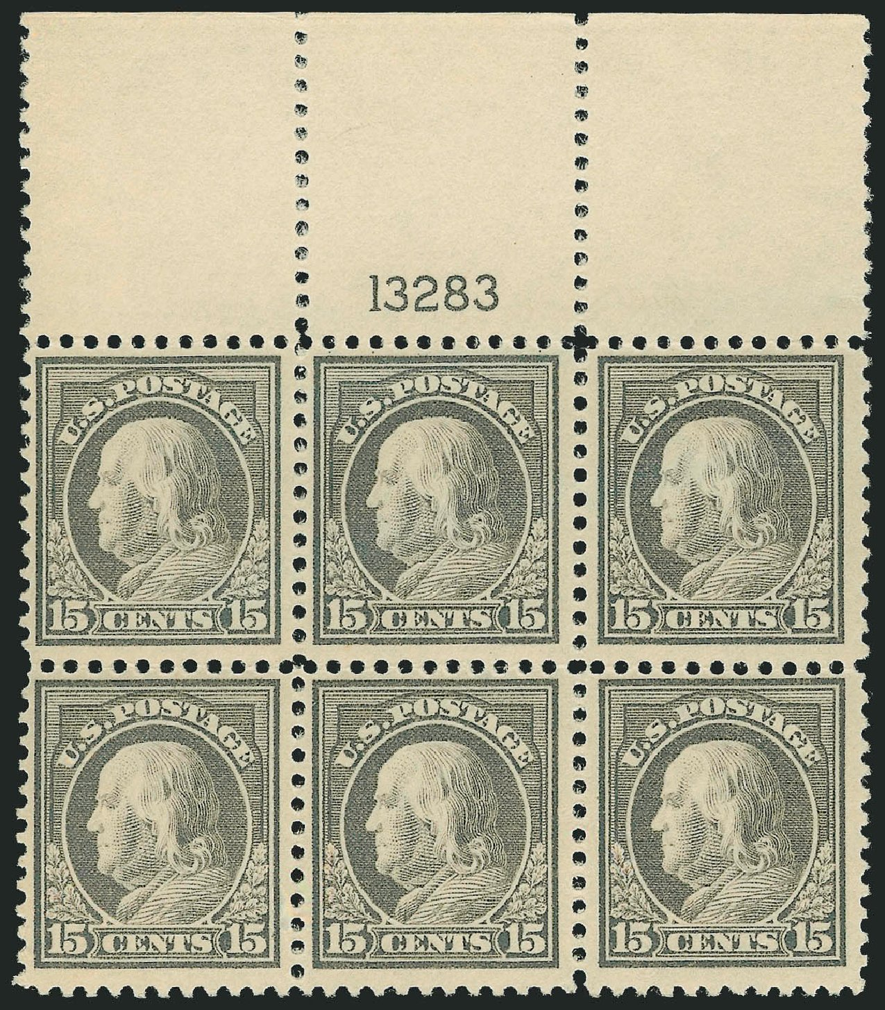 Value of US Stamp Scott Catalog # 514: 15c 1917 Franklin Perf 11. Robert Siegel Auction Galleries, Mar 2014, Sale 1067, Lot 1583