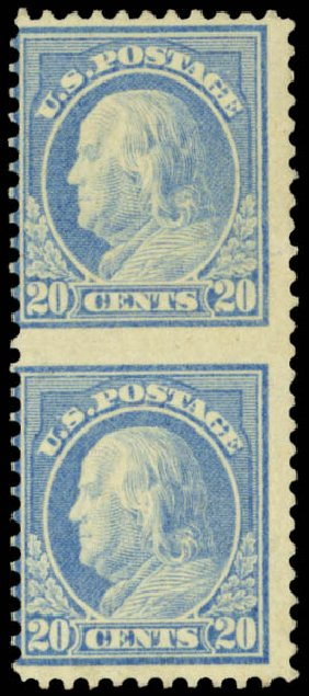 Costs of US Stamp Scott Catalog 515: 1917 20c Franklin Perf 11. Daniel Kelleher Auctions, May 2014, Sale 652, Lot 717