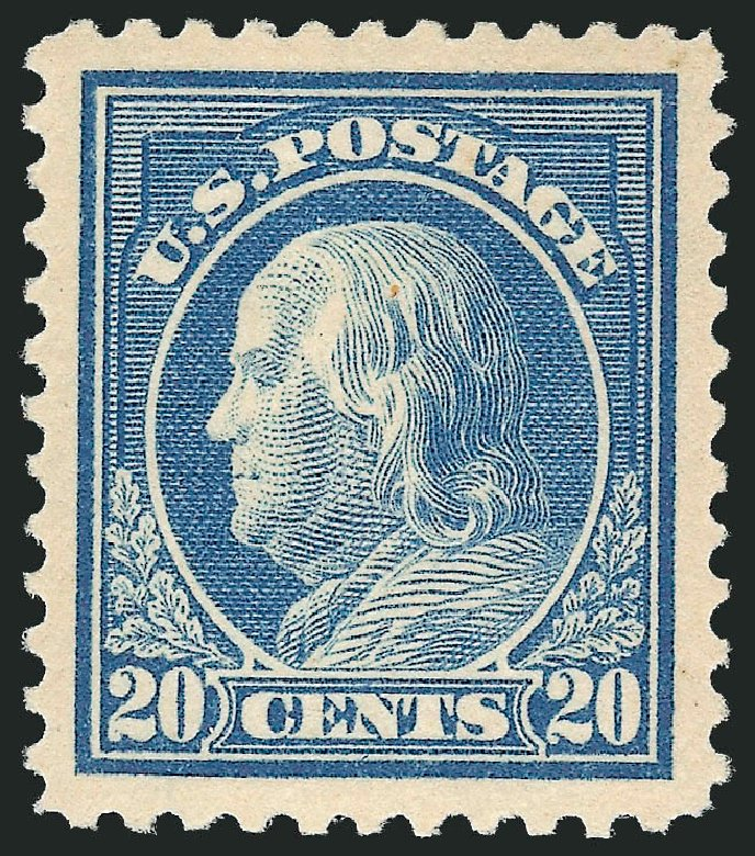 Cost of US Stamps Scott 515 - 20c 1917 Franklin Perf 11. Robert Siegel Auction Galleries, Feb 2015, Sale 1093, Lot 459