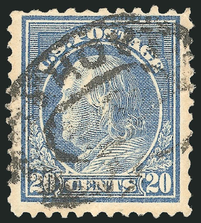 US Stamps Value Scott Catalog # 515: 20c 1917 Franklin Perf 11. Robert Siegel Auction Galleries, Jun 2015, Sale 1106, Lot 3159