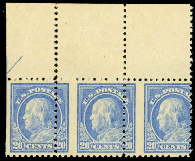 US Stamp Prices Scott Catalog 515: 1917 20c Franklin Perf 11. Daniel Kelleher Auctions, Sep 2014, Sale 655, Lot 560