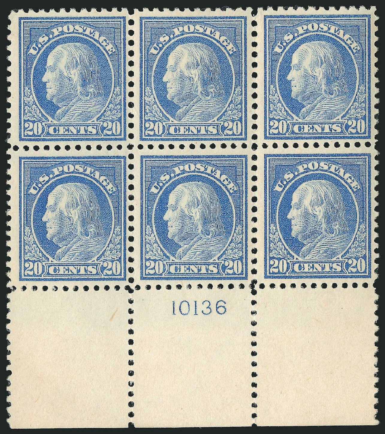 Prices of US Stamp Scott Catalogue #515: 1917 20c Franklin Perf 11. Robert Siegel Auction Galleries, Feb 2015, Sale 1093, Lot 460