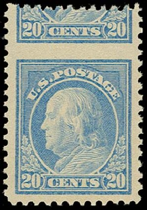 Price of US Stamps Scott Catalog 515 - 1917 20c Franklin Perf 11. H.R. Harmer, Oct 2014, Sale 3006, Lot 1444