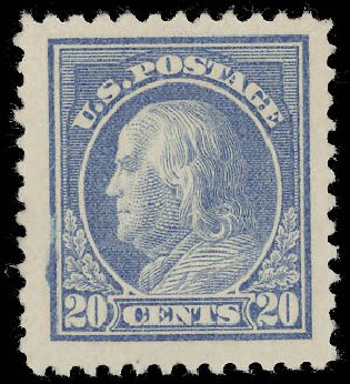 Price of US Stamps Scott Cat. #515 - 20c 1917 Franklin Perf 11. Daniel Kelleher Auctions, Aug 2015, Sale 672, Lot 2774