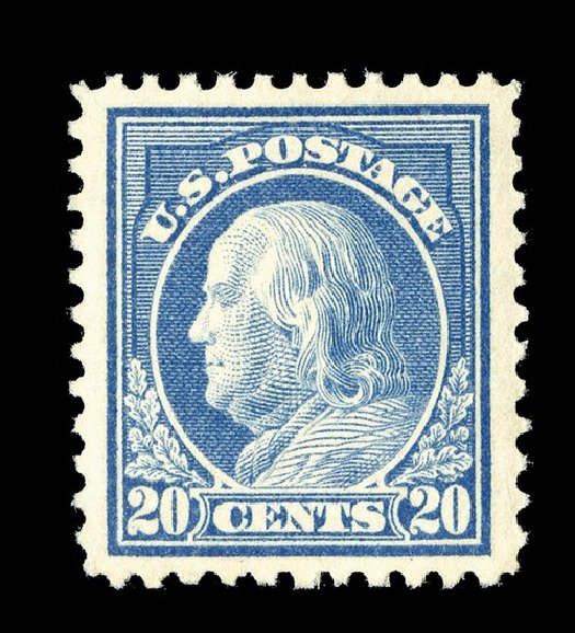Prices of US Stamps Scott Catalogue 515 - 20c 1917 Franklin Perf 11. Spink Shreves Galleries, May 2014, Sale 148, Lot 335