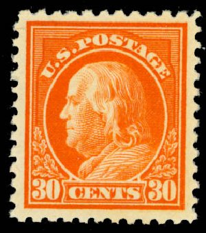 US Stamp Price Scott # 516 - 1917 30c Franklin Perf 11. Daniel Kelleher Auctions, Oct 2014, Sale 660, Lot 2409