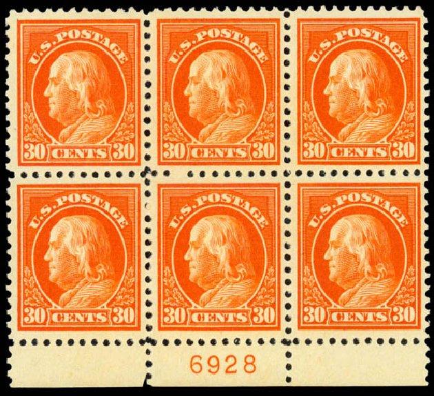 Prices of US Stamp Scott Cat. #516: 1917 30c Franklin Perf 11. Daniel Kelleher Auctions, Jan 2015, Sale 663, Lot 1860