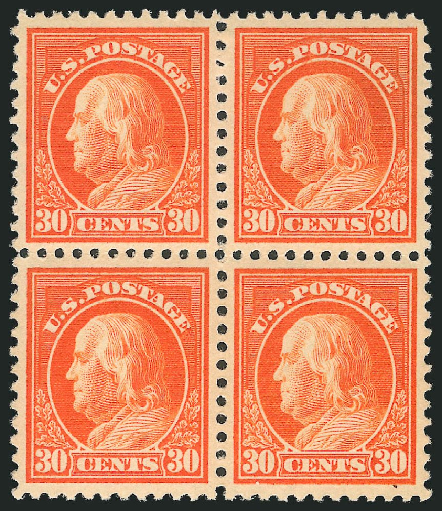 Values of US Stamps Scott #516 - 1917 30c Franklin Perf 11. Robert Siegel Auction Galleries, Dec 2012, Sale 1037, Lot 2090