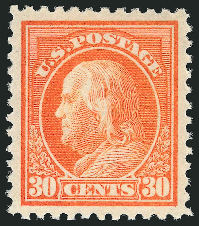 US Stamps Prices Scott # 516: 1917 30c Franklin Perf 11. Robert Siegel Auction Galleries, Feb 2015, Sale 1093, Lot 461