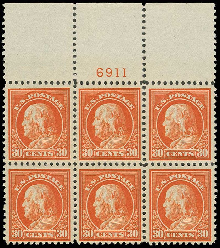 Cost of US Stamp Scott Cat. #516: 30c 1917 Franklin Perf 11. H.R. Harmer, Jun 2013, Sale 3003, Lot 1364