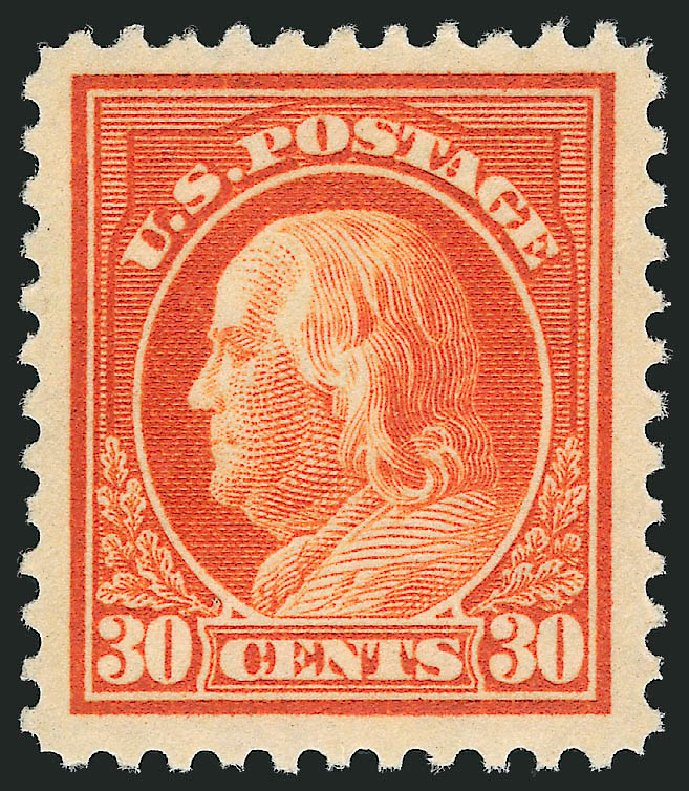 Values of US Stamp Scott Cat. 516 - 30c 1917 Franklin Perf 11. Robert Siegel Auction Galleries, Mar 2014, Sale 1067, Lot 1585