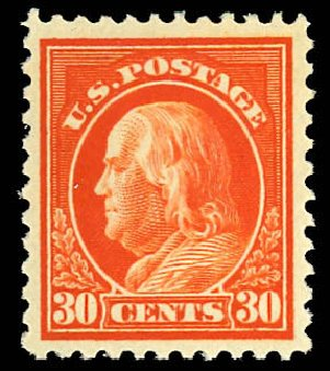 Prices of US Stamp Scott Cat. #516 - 1917 30c Franklin Perf 11. Daniel Kelleher Auctions, Dec 2012, Sale 633, Lot 892