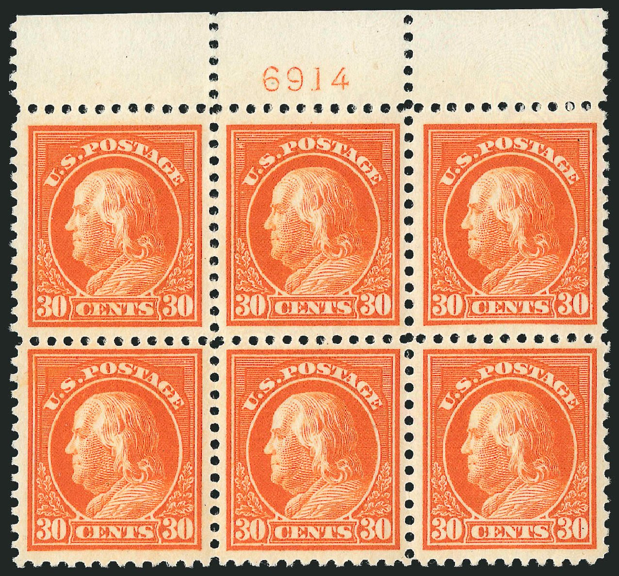 Costs of US Stamps Scott Catalogue # 516: 30c 1917 Franklin Perf 11. Robert Siegel Auction Galleries, Feb 2015, Sale 1093, Lot 462