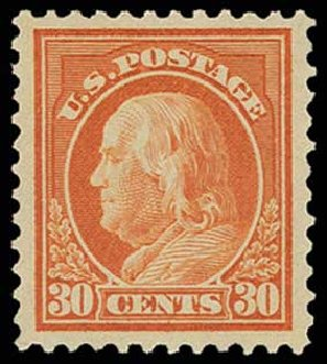 US Stamps Prices Scott Cat. 516 - 1917 30c Franklin Perf 11. H.R. Harmer, Jun 2013, Sale 3003, Lot 1363