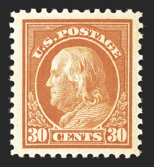 Cost of US Stamps Scott #516 - 30c 1917 Franklin Perf 11. Spink Shreves Galleries, Mar 2013, Sale 142, Lot 376