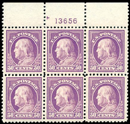 Prices of US Stamp Scott Catalog # 517 - 50c 1917 Franklin Perf 11. Schuyler J. Rumsey Philatelic Auctions, Apr 2015, Sale 60, Lot 2938