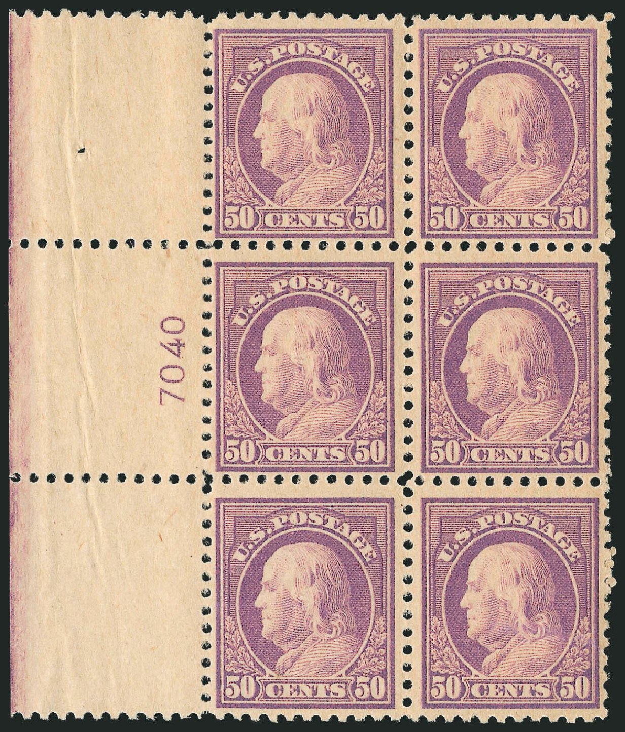 US Stamps Price Scott Catalog #517 - 50c 1917 Franklin Perf 11. Robert Siegel Auction Galleries, Sep 2014, Sale 1078, Lot 570