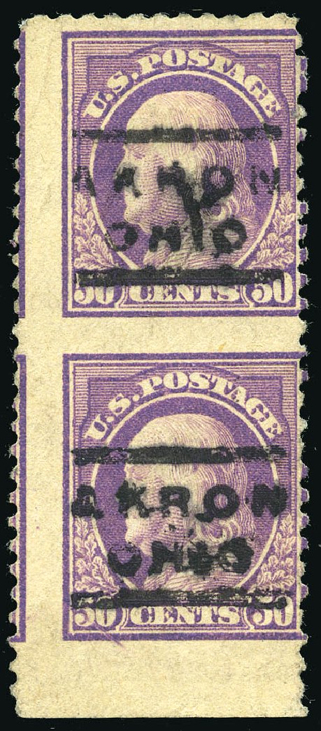US Stamp Prices Scott Catalog # 517 - 1917 50c Franklin Perf 11. Matthew Bennett International, Feb 2015, Sale 351, Lot 214