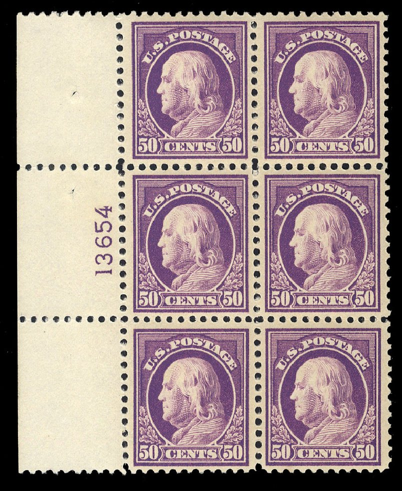 Prices of US Stamps Scott Cat. # 517 - 50c 1917 Franklin Perf 11. Cherrystone Auctions, Jan 2015, Sale 201501, Lot 184