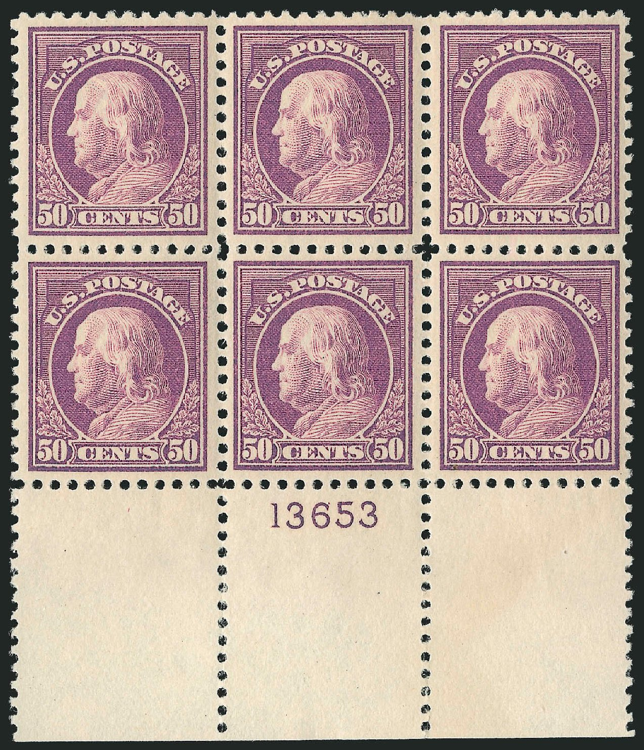 US Stamps Prices Scott Catalogue #517: 1917 50c Franklin Perf 11. Robert Siegel Auction Galleries, Feb 2015, Sale 1093, Lot 464