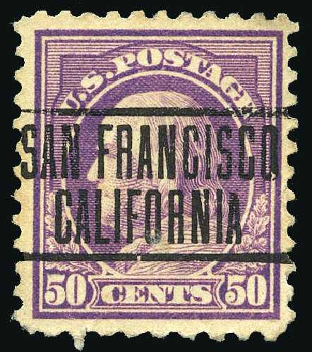 US Stamp Price Scott #517: 1917 50c Franklin Perf 11. Matthew Bennett International, Feb 2015, Sale 351, Lot 215