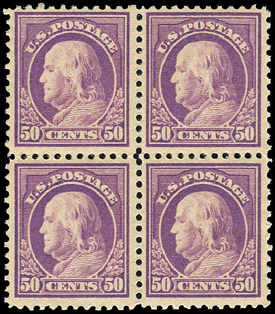 US Stamp Value Scott Catalog #517 - 1917 50c Franklin Perf 11. Regency-Superior, Nov 2014, Sale 108, Lot 925
