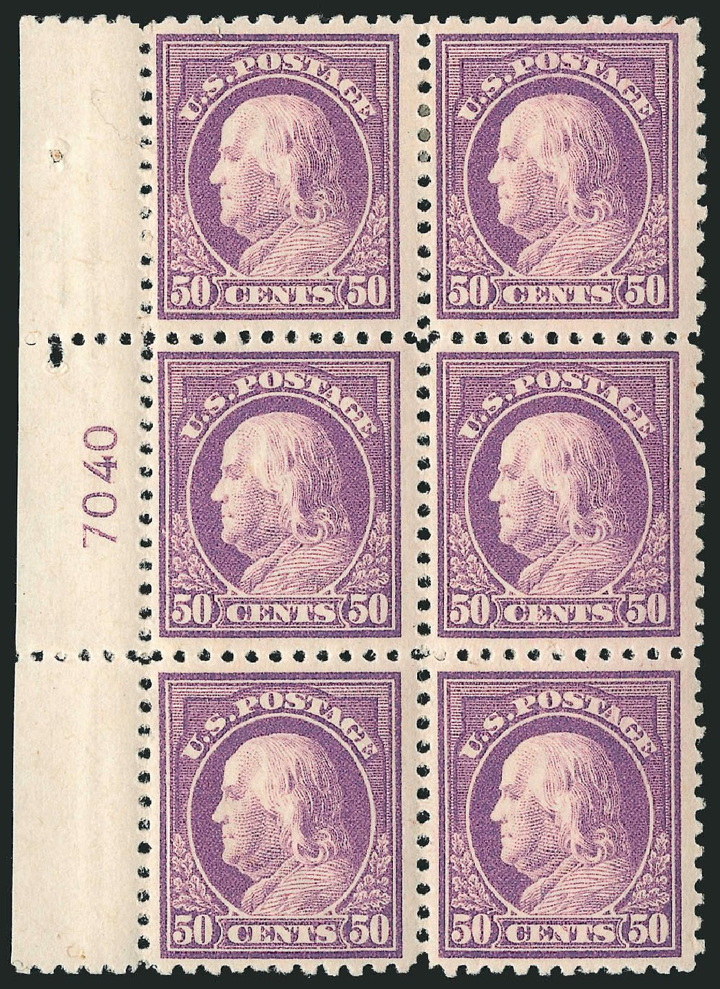 Value of US Stamp Scott Catalog # 517 - 1917 50c Franklin Perf 11. Robert Siegel Auction Galleries, Feb 2015, Sale 1093, Lot 465
