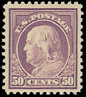 US Stamp Value Scott #517 - 1917 50c Franklin Perf 11. H.R. Harmer, Oct 2014, Sale 3006, Lot 1392