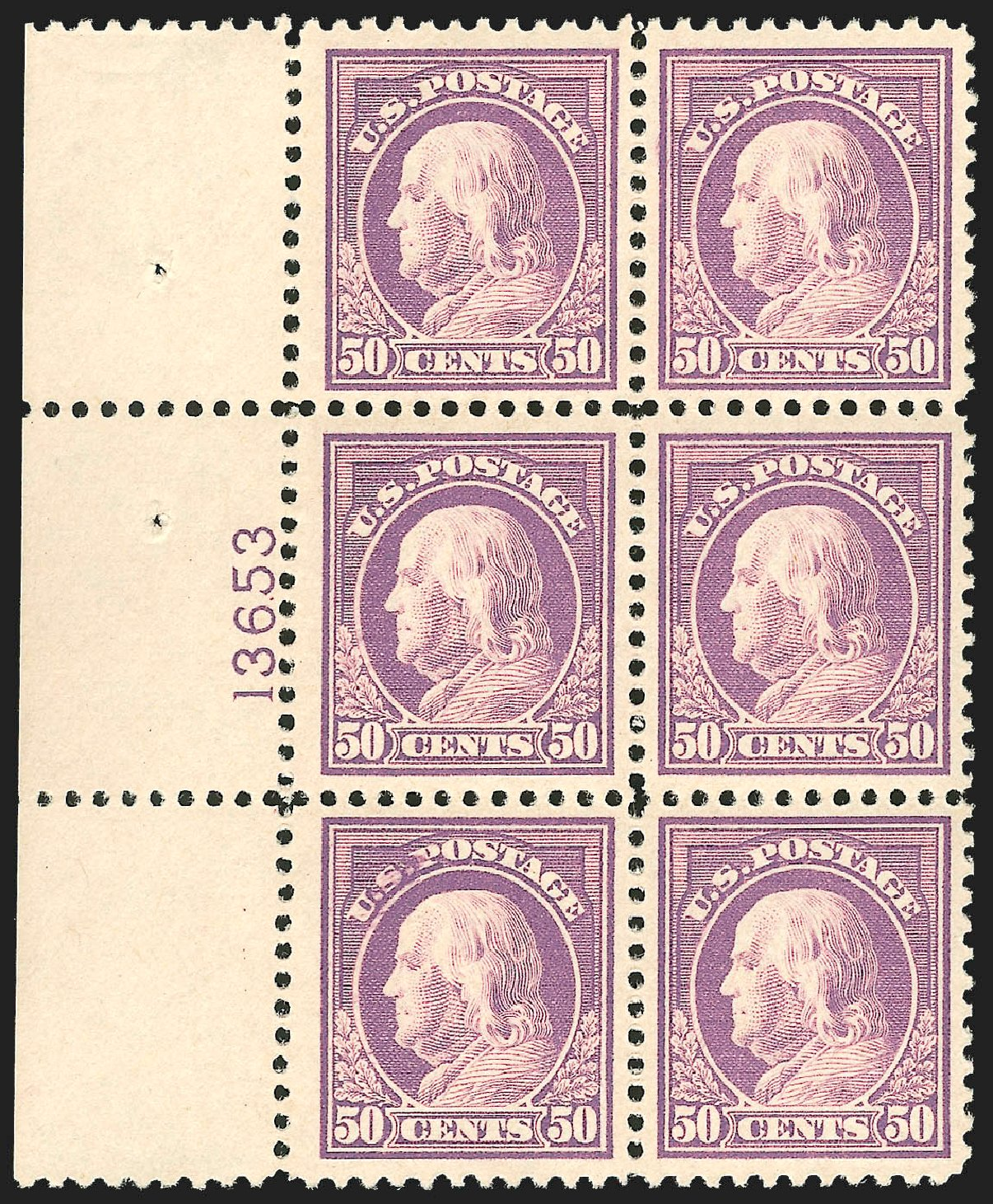 US Stamps Price Scott # 517: 50c 1917 Franklin Perf 11. Robert Siegel Auction Galleries, Jul 2015, Sale 1107, Lot 502