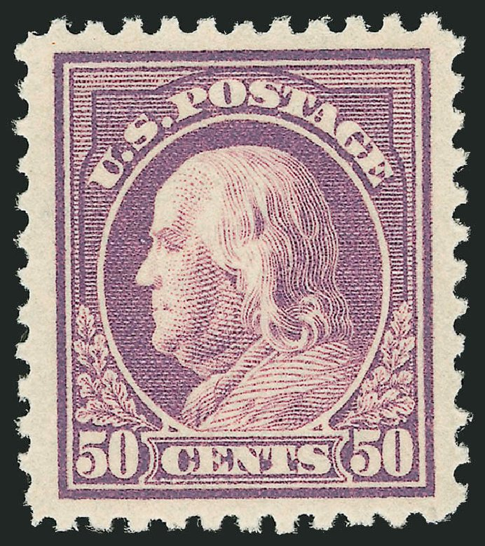 Value of US Stamp Scott Catalogue # 517: 50c 1917 Franklin Perf 11. Robert Siegel Auction Galleries, Feb 2015, Sale 1093, Lot 463