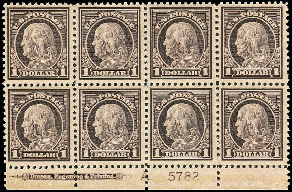 Costs of US Stamp Scott 518 - 1917 US$1.00 Franklin Perf 11. Regency-Superior, Jan 2015, Sale 109, Lot 1659