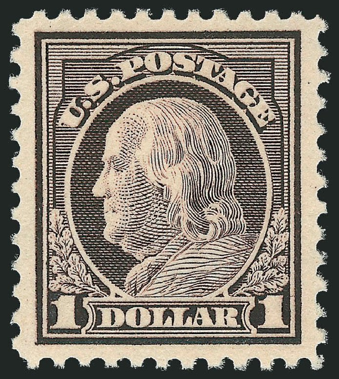 Cost of US Stamp Scott Catalog # 518: US$1.00 1917 Franklin Perf 11. Robert Siegel Auction Galleries, Nov 2013, Sale 1061, Lot 3975
